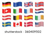 collection of different eu and... | Shutterstock .eps vector #360409502