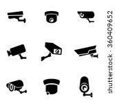 vector black security camera...   Shutterstock .eps vector #360409652