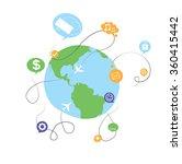 world wide social media network ... | Shutterstock .eps vector #360415442