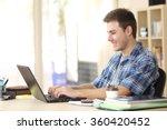 portrait of a handsome student... | Shutterstock . vector #360420452