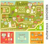 easter invitation card and... | Shutterstock .eps vector #360420806
