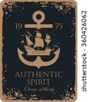 banner with an anchor and a... | Shutterstock .eps vector #360426062