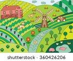 thin line flat design of... | Shutterstock .eps vector #360426206