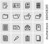 vector line document icon set. | Shutterstock .eps vector #360428285