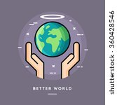 better world  flat design thin... | Shutterstock .eps vector #360428546