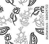 pattern  doodles ellipses ... | Shutterstock .eps vector #360429722