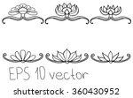 vintage vector flower frame for ... | Shutterstock .eps vector #360430952