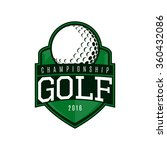 vector label of golf. logo of... | Shutterstock .eps vector #360432086