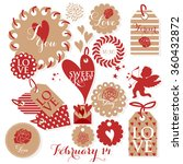 valentines day and weeding... | Shutterstock .eps vector #360432872