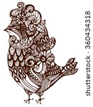 vintage pattern birds on a... | Shutterstock .eps vector #360434318
