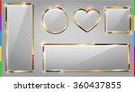 vector glass modern banner set...