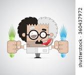 vector illustration. crazy...   Shutterstock .eps vector #360437972
