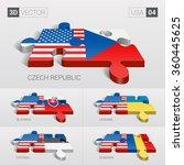 european union and czech ...   Shutterstock .eps vector #360445625