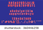 english font set. alphabet ... | Shutterstock .eps vector #360446258