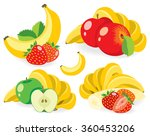 vector fruits. various fruits ... | Shutterstock .eps vector #360453206