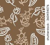 pattern  doodles ellipses ...   Shutterstock . vector #360454076