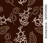 pattern  doodles ellipses ...   Shutterstock . vector #360454082