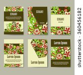 set of eco brochures and flyers....   Shutterstock .eps vector #360456182
