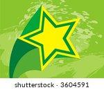 grunge star. vector... | Shutterstock .eps vector #3604591