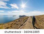 backpacker exploring the inca... | Shutterstock . vector #360461885