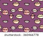 lips seamless pattern violet | Shutterstock .eps vector #360466778