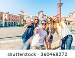 group of happy friends taking a ... | Shutterstock . vector #360468272