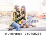 euphoric friends watching... | Shutterstock . vector #360468296