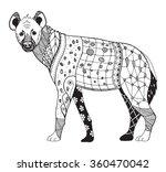 hyena zentangle stylized ... | Shutterstock .eps vector #360470042