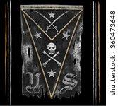 torn flag t shirt graphic | Shutterstock .eps vector #360473648