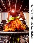 housewife prepares roast... | Shutterstock . vector #360476228