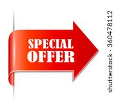special offer red vector label... | Shutterstock .eps vector #360478112