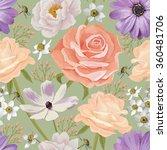 elegance seamless color flower... | Shutterstock .eps vector #360481706