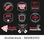 set of vector music production... | Shutterstock .eps vector #360482432