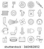 thin line car service vector...   Shutterstock .eps vector #360482852
