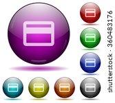 set of color credit card glass...