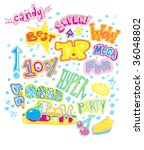 words  hand drawn vector  | Shutterstock .eps vector #36048802