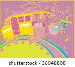 Tramway (hand drawn vector) - stock vector