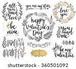 valentine s day lettering... | Shutterstock .eps vector #360501092