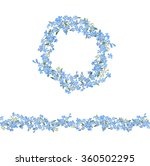blue floral garland and... | Shutterstock .eps vector #360502295