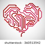 abstract heart made from... | Shutterstock .eps vector #360513542