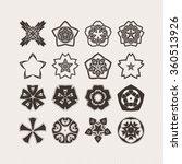set of ornate vector mandala... | Shutterstock .eps vector #360513926