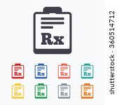 medical prescription rx sign... | Shutterstock . vector #360514712