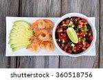 Shrimp Avocado And Mexican Bea...