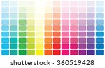 color palette . vector... | Shutterstock .eps vector #360519428