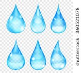 set of transparent drops in... | Shutterstock .eps vector #360521078