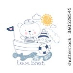bear sailor vector illustration ... | Shutterstock .eps vector #360528545