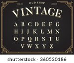 alphabet vector font. all... | Shutterstock .eps vector #360530186