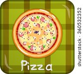pizza with mushrooms and...   Shutterstock .eps vector #360532352