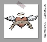 vintage wedding design template.... | Shutterstock .eps vector #360535265