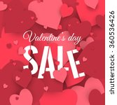valentine's day sale. letters... | Shutterstock .eps vector #360536426